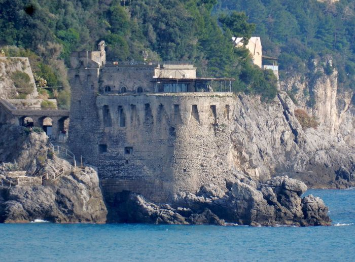 Water Architecture Built Structure Sea Day Building Exterior Nature Travel Destinations History Tree Waterfront No People Rock Building The Past Land Scenics - Nature Outdoors Solid Amalfi Coast