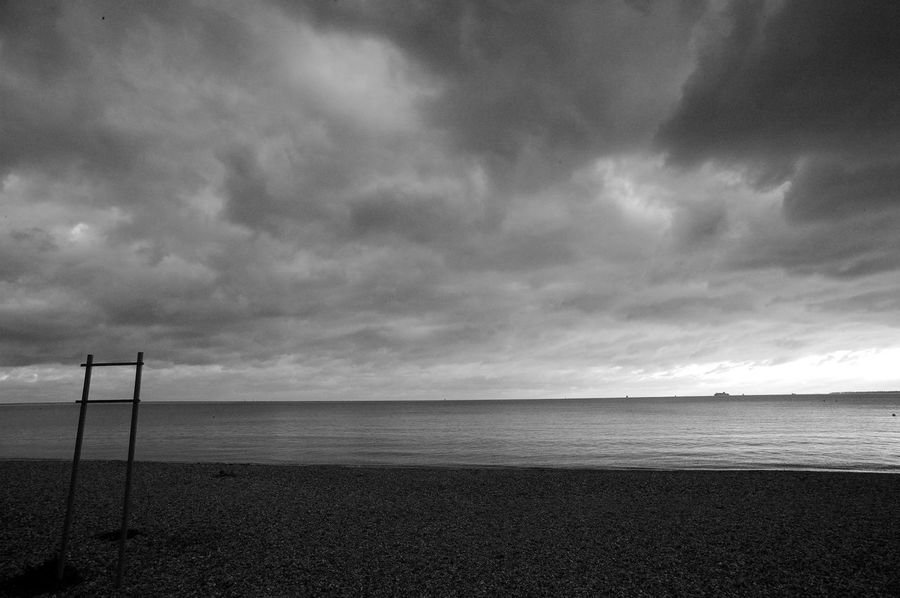 Nothing To Say Black & White Eastney Beach Beach Beauty In Nature Blackandwhite Cloud - Sky Horizon Over Water Nature No People Outdoors Sand Scenics Sea Sky Tranquil Scene Tranquility Water