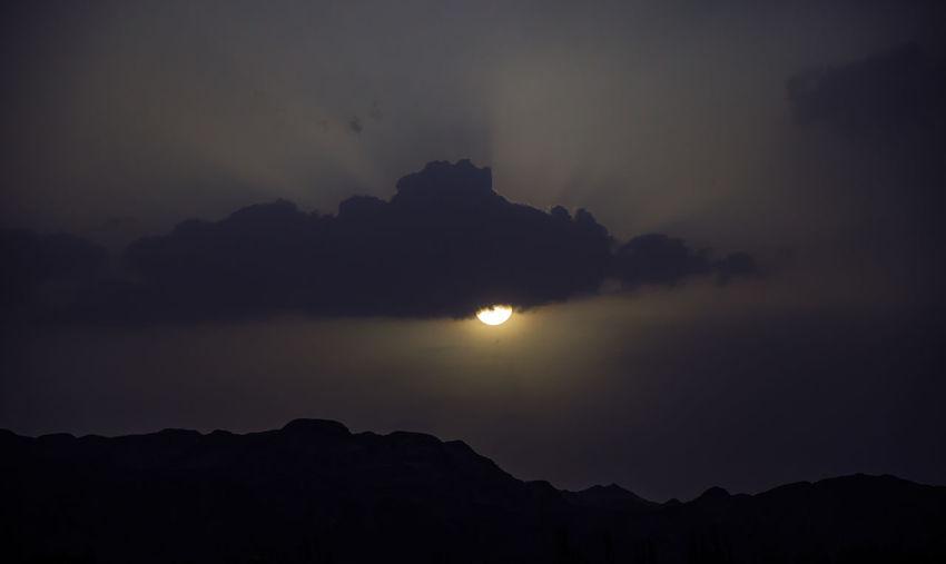 霍拉山的傍晚时分