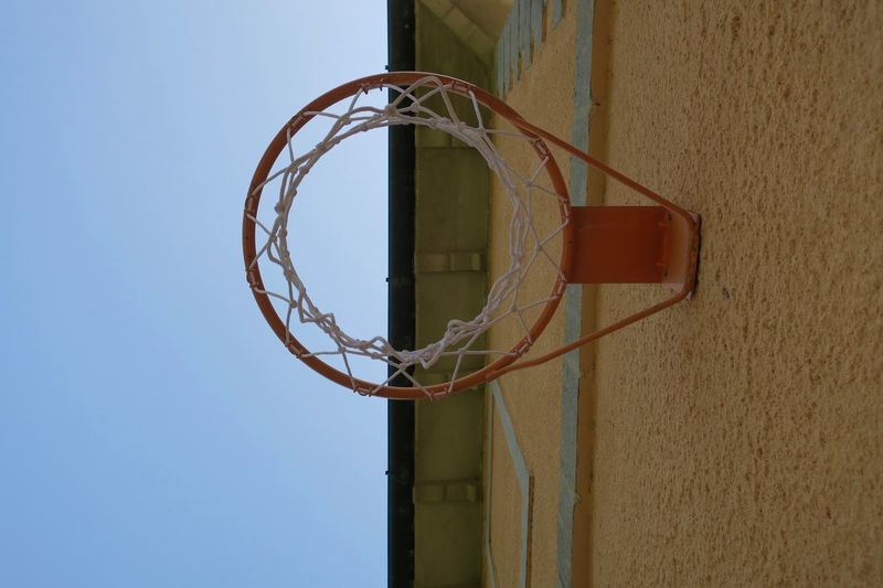 hoop Architecture Basketball - Sport Basketball Hoop Building Exterior Clear Sky Close-up Day No People Outdoors Sky