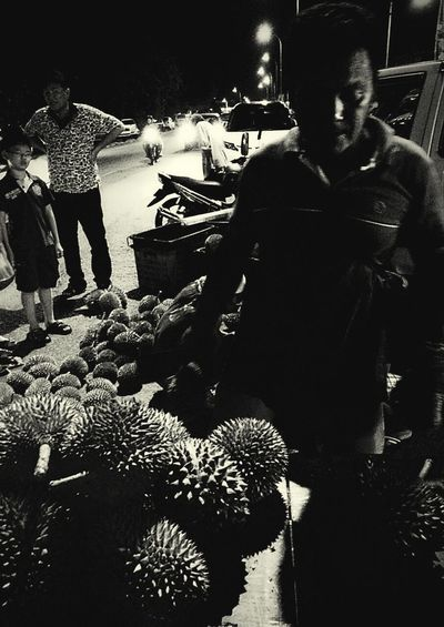Malaysian Style Blooming Season Durians Taking Photos