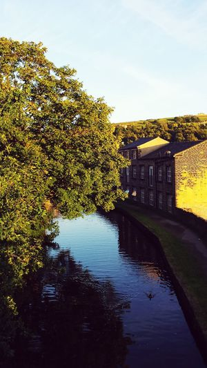 I Love My City Can't be away from the water. Canal Water Canals And Waterways Happyvalleysowerbybridge Reflection Duck Landscape Buildings Town