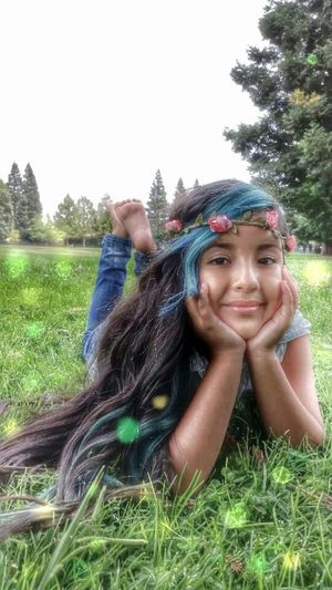Taking Photos Hello World BlueHair Beautiful Girl Lalee Outdoor Photography