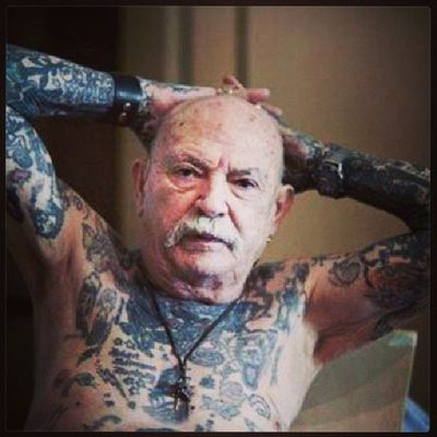 I have no problem growing old with ink. Tattoo Chestpiece Ink Inkmywholebody