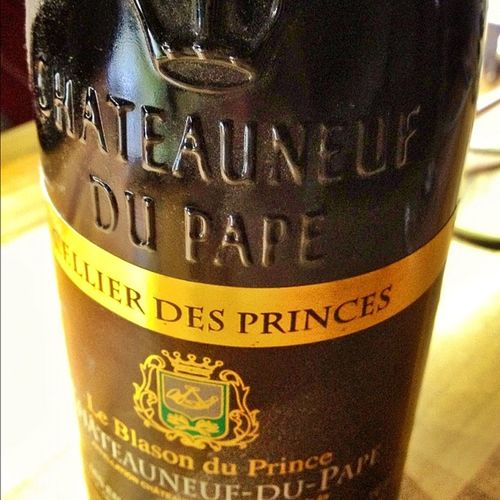 Zur Feier des Tages. #ChateauNeufDuPape und #Rehgulasch Rehgulasch Chateauneufdupape
