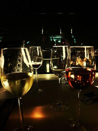 Wine Moments Drinking Glass Alcohol Wineglass Half Full Night Red Wine White Wine Nightlife Wine Sky Bar Hilton Sky Bar Sky And City EyeEmNewHere