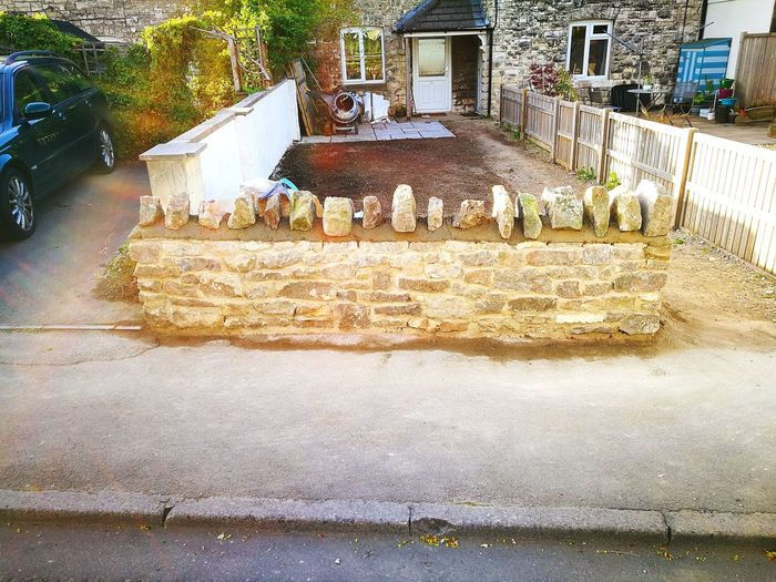 I built this! Rubble Wall Cotswold Wall Somerset Wall Mendips Quaint Wall Garden Build Walling Water Road Residential Structure Exterior Neighborhood Urban Residential