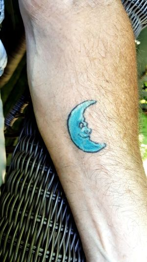 Tattoo Moon Man In The Moon Close-up No People Day Blue Outdoors