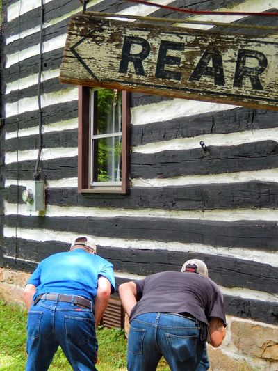 Two Is Better Than One Pivotal Ideas Funny Moments Rural America Fatherhood Moments Eyem Collection Eyeem Community Eyeem Market Eyeem Photography EyeEm Gallery ForTheLoveOfPhotography Orginal Experiences Two Men Bending Over Millersburg, Pa Men's Jeans Blue Jeans Blue Jean Rear End Menofoutdoors EyeEm 43 Golden Moments EyeEm Team Eye4photography  Adventure Club Hidden Gems  This Is Aging