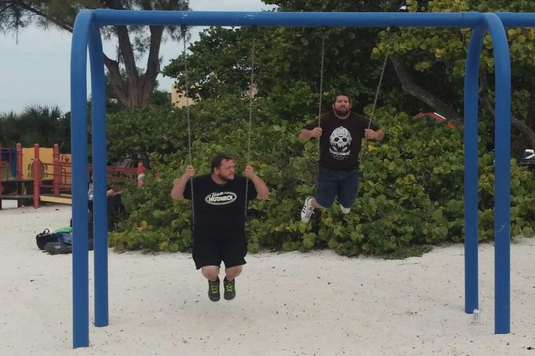 Goofy guys on swings. Being Goofy Son Son In Law Swings Swinging Away Beach Photography Family Time We Are Family Living Life To The Fullest❤