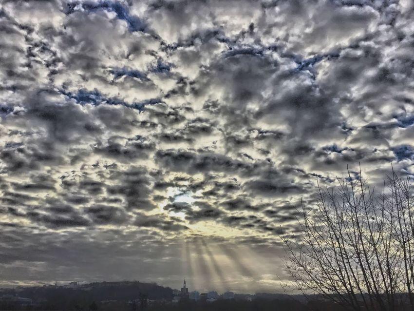 Dernier jour de l'année 2015 DECEMBER2015 Décembre2015 Panorama Angouleme Ciel Et Nuages Clouds And Sky Skyfie CIELFIE Hello World Rayons De Soleil
