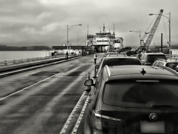 Blackandwhite Car City Life Development Engineering Ferryboat Journey Land Vehicle Mode Of Transport Outdoors Seattle, Washington Transportation Travel Vashon Ferry