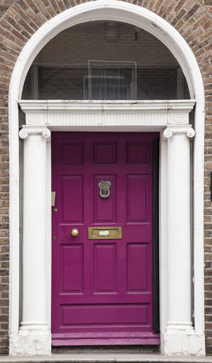 Dublin Individuality Ireland Old Fashioned Resistance  Wood Architecture Building Exterior Civil Day District Door English Entrance Gregorian Historical Law Medieval Neighborhood No People Outdoors Purple Series Window