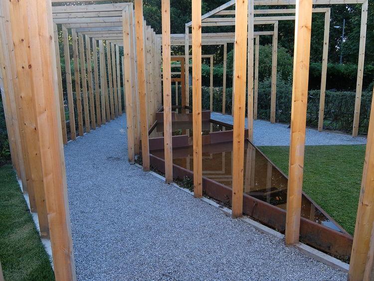 Festival Internacional de Jardins 2016 Built Structure Empty No People Walkway Water Reflections Wood - Material
