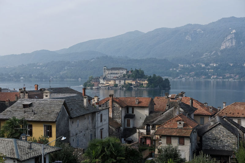 Autumn Best Place To Visit Historical Sights Orta  Panorama Piedmont Italy Romantic Romantic Landscape Building Exterior Day Daylight Historical Place Island On The Lake Italian Lake Lake Lake View No People Old Village Orta San Giulio Outdoors Roofs Scenics Travel Destinations Typical Village