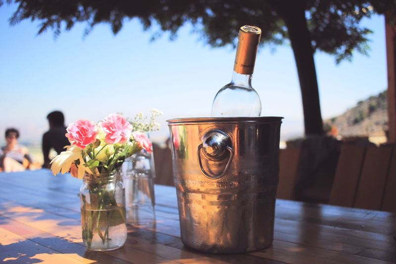 EyeEm Selects Lebanon Bottle Food And Drink Outdoors Flower Daydrinking Wine Not
