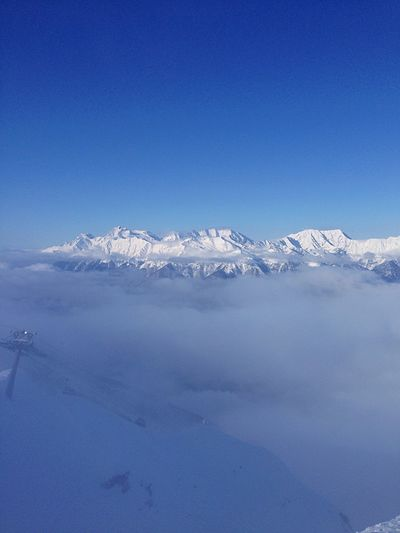 Fog Mountain Mountain Fog Cold Temperature Winter Snow Nature Beauty In Nature Snowcapped Mountain Landscape Mountain Range Frozen Roza-Pik 2320 Sochi Roza Khutor