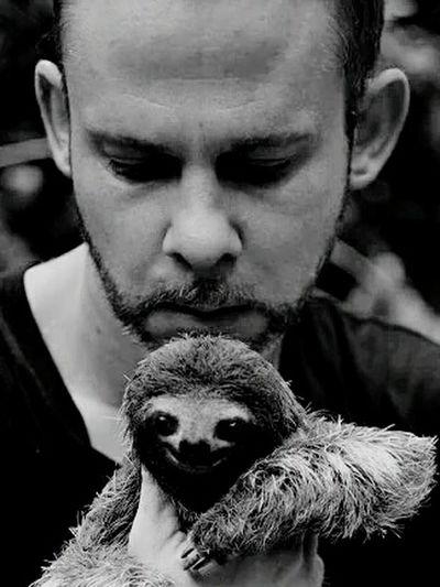Dominic Monahan and a sloth Myhero❤ Sloth