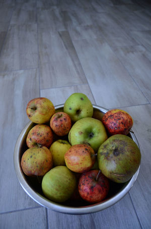Apple - Fruit Apples Beautifully Organized Blemished Fruit Fruit Bowl Home Grown Food Imperfect