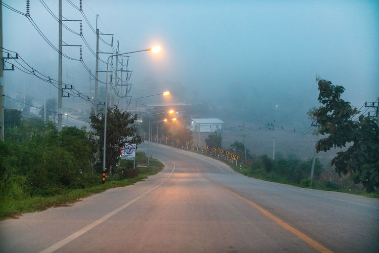 Fog in the road