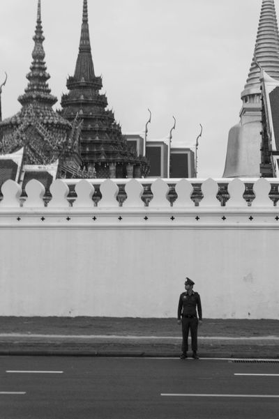 Architecture Building Exterior Built Structure Cultures Day Grand Palace Bangkok Thailand King Bhumipol Adulyadet One Person Outdoors Place Of Worship Religion Spirituality Travel Destinations