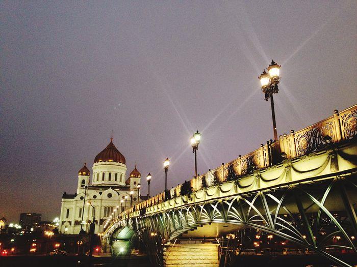 Built Structure Architecture Illuminated Building Exterior Connection Bridge Sky
