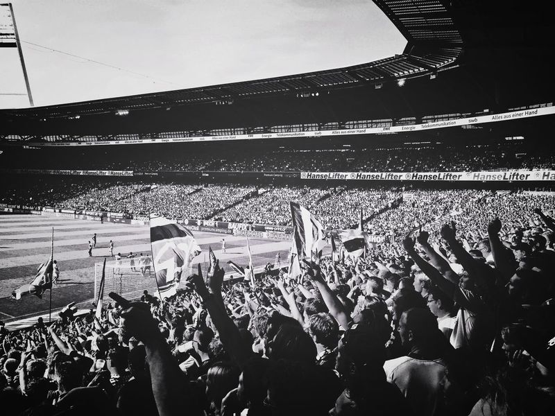 Showcase: December Blackandwhite Light And Shadow Light Football Soccer Werder Bremen SV Werder Bremen Fan Fans Football Stadium Football Fans Fandom Passion Sport Sports Sports Photography Iphone6 IPhone Polarr