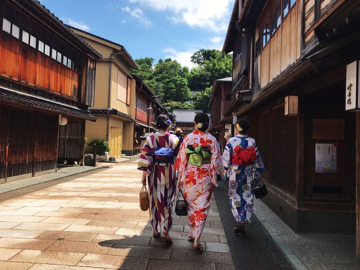 Real People Building Exterior Architecture Built Structure Women Walking Beauty In Nature Cityscape Japan Photography Travel Photography Landscape Holiday Kimono Architecture Traveling House Travel