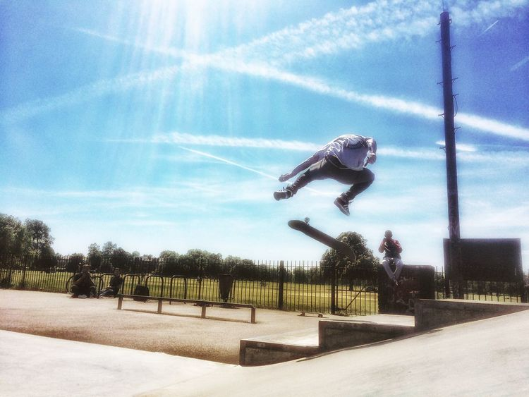The Moment - 2015 EyeEm Awards The Action Photographer - 2015 EyeEm Awards Clapham Common Skatepark Trick  Skate IPhoneography Skateboard Skateboarding Sport In The City Creative Light And Shadow