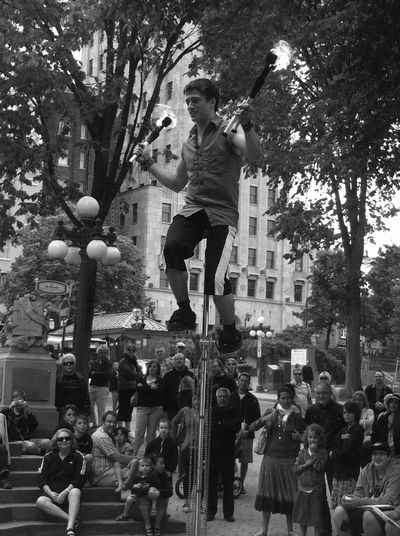 Street show in Quebec.