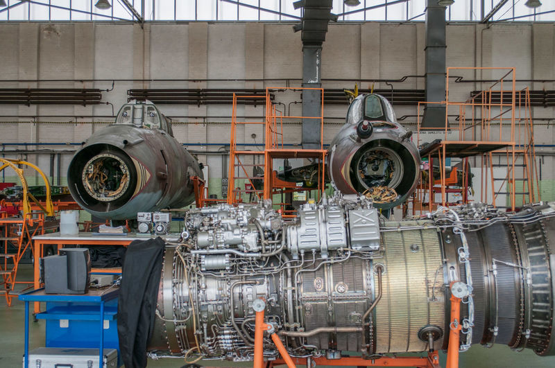 Machine part of factory