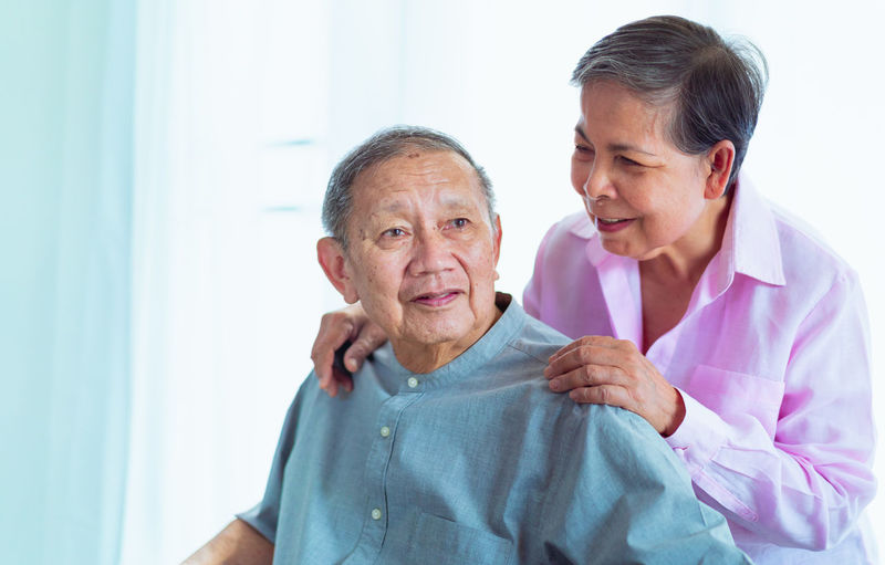 happy senior asian couples support each other, selective focus Activity Age Bright Care Clinic Couple Cure Doctor  Elderly Family Father Female Focus Forward Grandfather Grandma Grandmother Grandpa Grandparents Hand Happy HEAD Health Healthy Light Look Love Male Man Medical Mother Nurse Old Patient People person Selective Senior Smile SUPPORT Together Woman Wrinkles