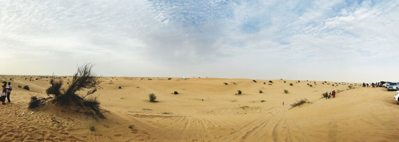 Panoramic View Of Sand Dunes Against Sky