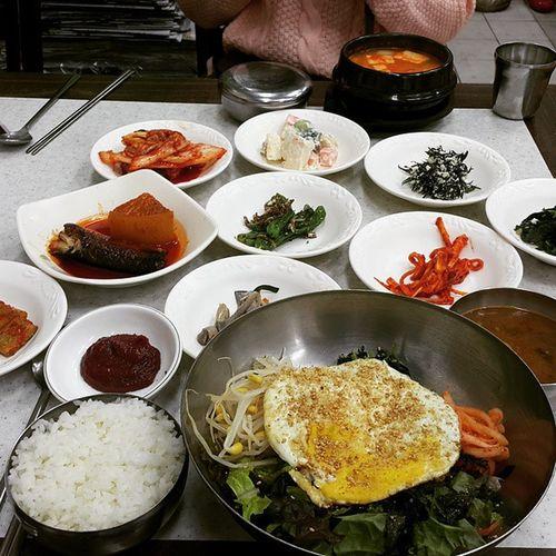 먹스타그램 공주산성시장 비빔밥 된장찌개 먹방
