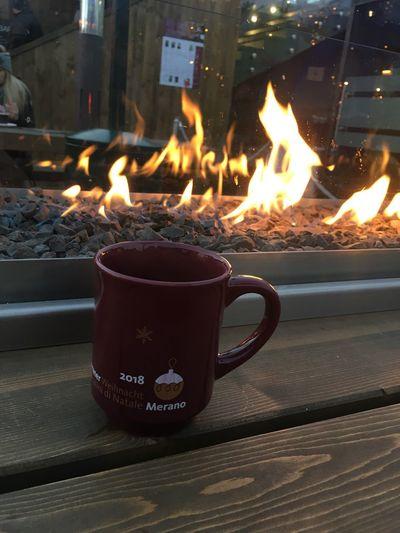 Mercatino Di Natale Merano Country Burning Fire Flame Heat - Temperature Fire - Natural Phenomenon No People Fireplace