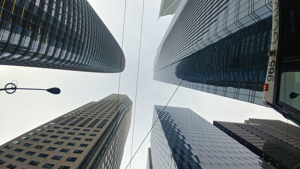 Skyscraper Architecture City Low Angle View Built Structure Modern Building Exterior Downtown District Outdoors Day Travel Destinations Urban Skyline No People Cityscape Sky
