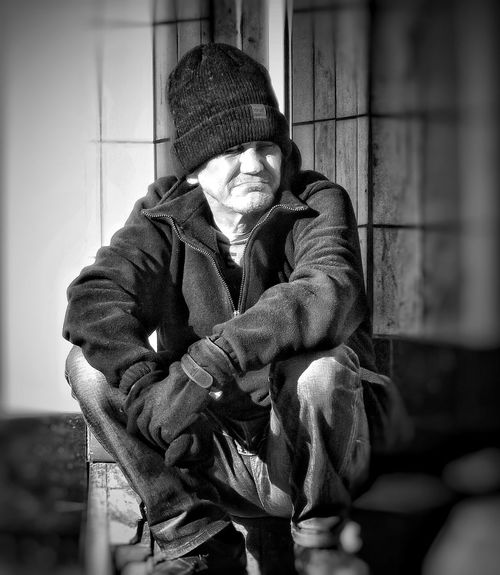 This guy was just sat in a doorway watching the world go by. People Of Manchester Taking Photos Black And White Portrait EyeEm Stilllife Bnw Photography EyeEm Best Shots - Black + White Black And White Collection  Creative Light And Shadow Shades Of Grey Black And White Photography Monocrome Fujifilm Showcase March Hdr_Collection Bnw_collection Hdr Photography Hdr Edit HDR EyeEm Masterclass Manchester UK EyeEm Documentary Photography Street Photography People Photography Homeless Homeless Of Manchester Uk Eyeem Streetphotography Street Photography - EyeEm Awards 2016 Photojournalist Eyeem 2016