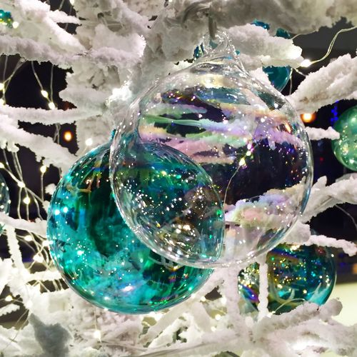 Sparkle Holiday Glass Two Of A Kind Merging Ornaments IPS2015Xmas