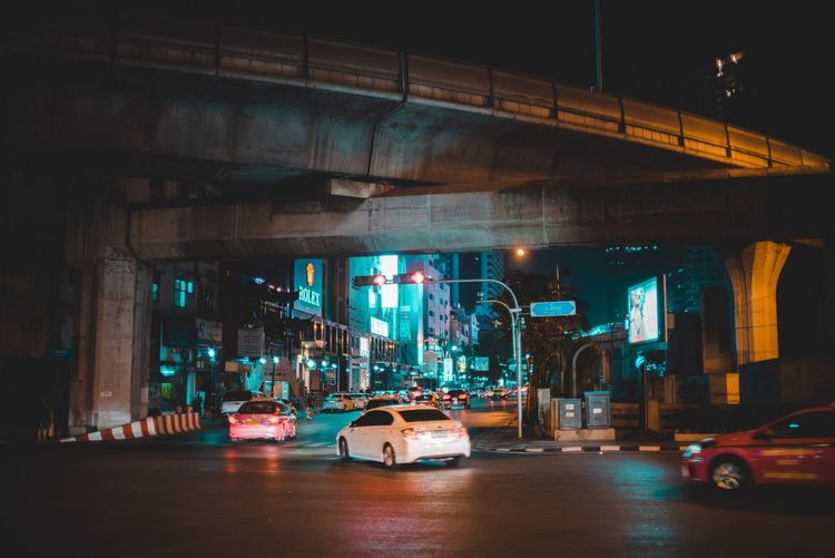 Transportation Illuminated Night Car City Land Vehicle Road No People Outdoors Architecture Lmntpresets Street Streetscene