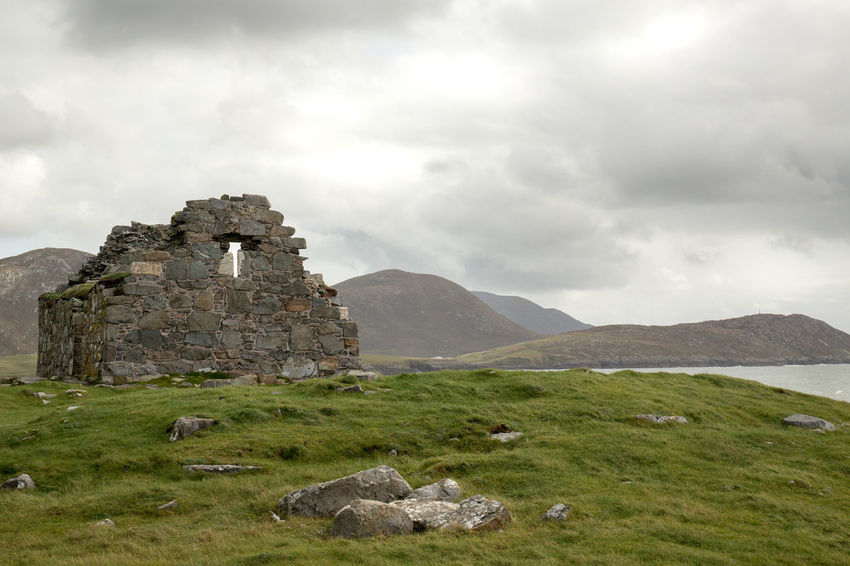 Ancient Civilization Ancient Ruins Below Ceapabhal Mountainside EyeEmNewHere Isle Of Harris Scenes Landscape Medieval Church Northton Temple Outer Hebrides Rubh An Teampaill Scenics Stone Structures Towards Toe Head (Gob An Tobha) Western Isles