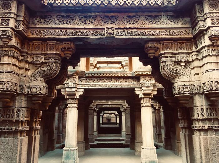 Increadible India Adalajstepwell India Architecture Built Structure Building History The Past No People Travel Destinations Architectural Column The Way Forward Travel Creativity