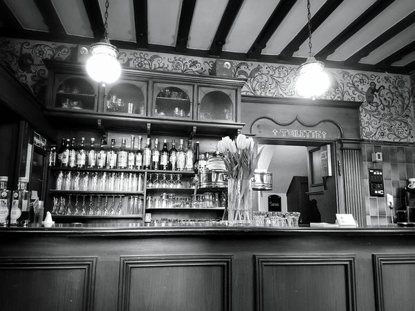 Indoors  Bar - Drink Establishment Business Finance And Industry No People Tranquility Monochrome _ Collection Cultures Building Exterior Black & White Old Architecture Old Buildings Black&white Mypointofview Light And Shadow EyeEm Black&white! Architecture_collection Blackandwhite Photography Monochrome Photograhy Taking Photos Built Structure Architecture City Old House Oldbar Oldhotel
