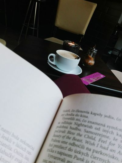 Table Day Coffee Books Relaxing ♥ Personal Time No People Booklover Bookmark Big Cup Of Coffee