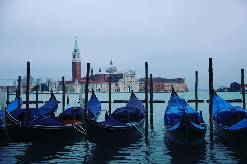 Gondoliere Gondola - Traditional Boat Moored Wooden Post Transportation Water Mode Of Transport Gondola Architecture Nautical Vessel Canal Day Sky Travel Destinations