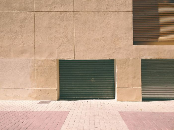 Shadow of building on footpath