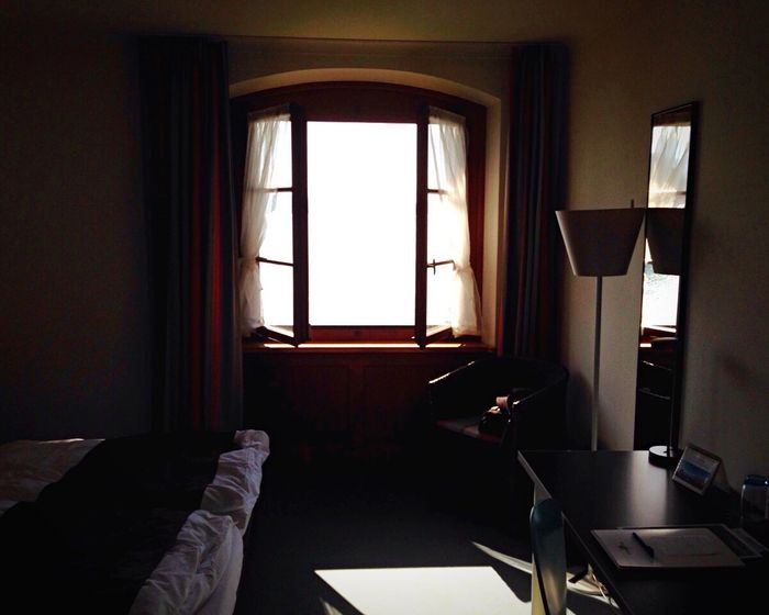 EyeEm Selects Indoors  Domestic Room Curtain Home Interior Window Indoors  No People Day Close-up Hotel Room With A View