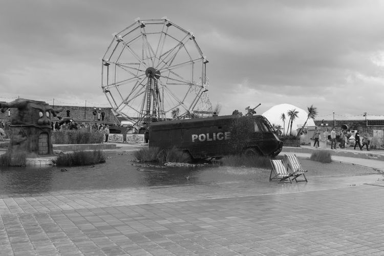 Black & White Black And White Blackandwhite Blackandwhite Photography Dismal Dismaland Dismaland® Ferris Wheel Police Van Seaside Seaside Scene Tropicana Weston Super Mare