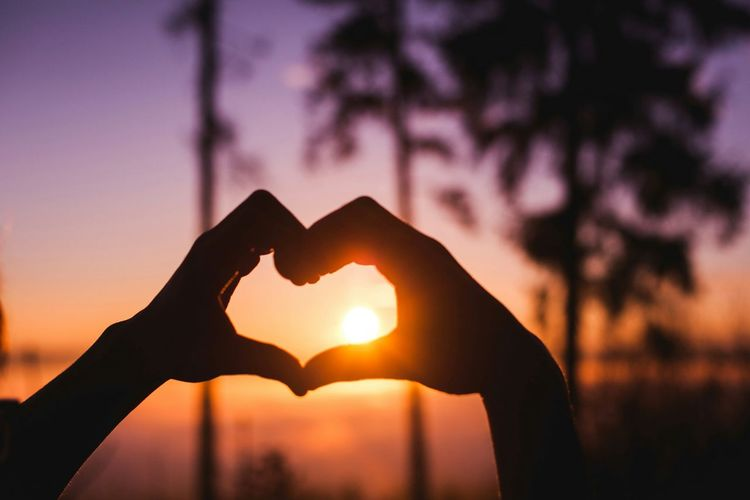 Heart Hands Sun Warm People