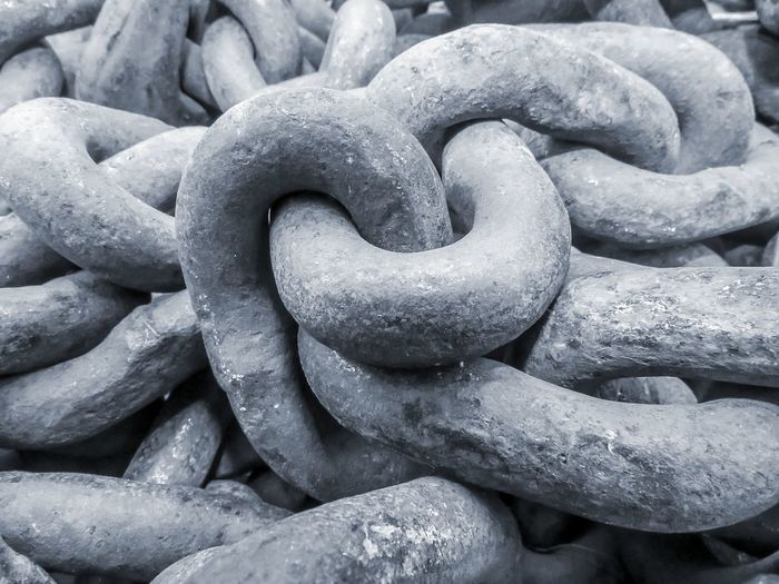 chains Design Textured  Shapes Shapes And Forms Pattern Chain Chains Metal Links Steel Steel Chain Cable Blue Rust Weathered Old Tools Equipment Strength Backgrounds No People Full Frame Outdoors Close-up Day