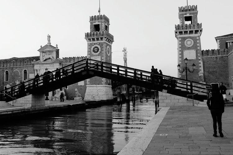 Venice, Italy Bridge Water Castle Beutiful View Peoples